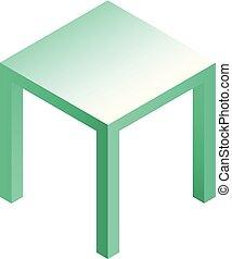 Stool icon, isometric style