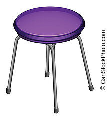 Stool - Illustration of a single stool