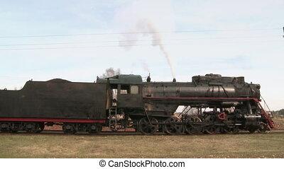 stoom, staand, trein