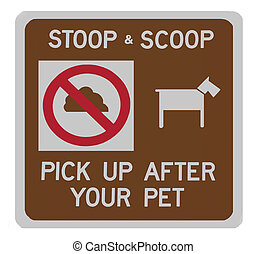 Stoop & scoop sign