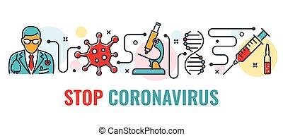 Stop 2019-nCoV Coronavirus Banner