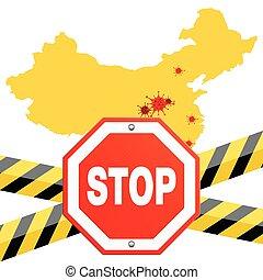 Stop 2019-nCoV Coronavirus Concept