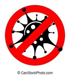 Stop 2019-nCoV Coronavirus Sign