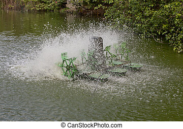 Stop action of water and aerator turbine in pool