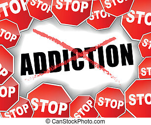 Stop addiction - Vector illustration of stop addiction...