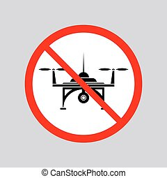 Stop Air Drone Allowed Sign.
