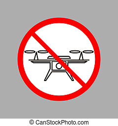 Stop Air Drone Icon