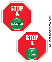 Stop and go register, and Vote