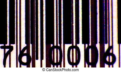 stop beweging, van, differnet, beelden, van, streepjescodes,...