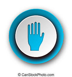stop blue modern web icon on white background