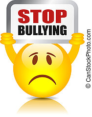 Stop bullying sign isolated on white background