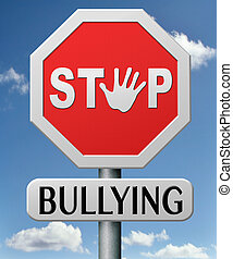 stop bullying at school or at work stopping an online...
