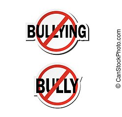 stop bullying, stop bully - sticker - suitable for warning...