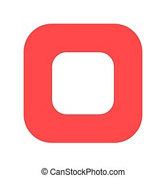 Stop button flat vector icon