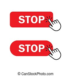 Hand cursor clicks Stop button