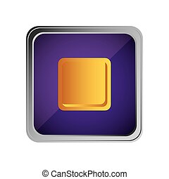 stop button icon with background purple