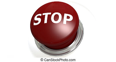 Stop button isolated with white background