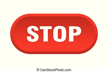 stop button. stop rounded red sign. stop