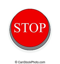 Stop button. Vector illustration