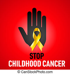 Stop Childhood Cancer sign
