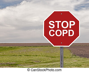 Stop COPD - Stop Sign For Awareness Of COPD