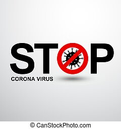 stop corona virus 2 - illustration graphic vector of stop ...