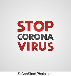 stop corona virus message