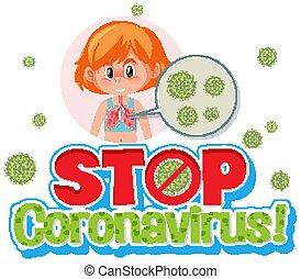 Stop Corona virus sign illustration