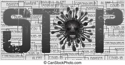 STOP Coronavirus 2019-nCoV , Covid-19 card. vector illustration