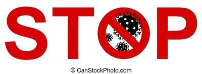 Stop coronavirus 2019-ncov covid-19 vector illustration