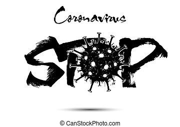 Stop Coronavirus. Covid-19. 2019-nCov