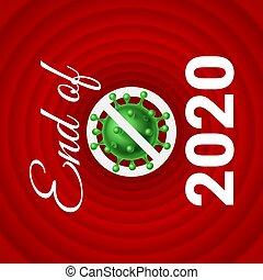 Stop Corona Virus 2019-nCoV Icon end of 2020. Stop Pathogen Respiratory Infection. Coronavirus Public Health Risk Disease and Flu Outbreak