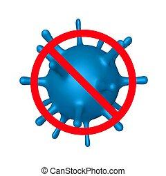 Stop coronavirus, virus strain of MERS-Cov
