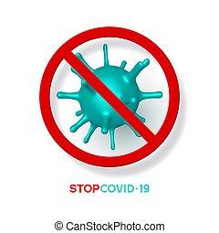 Stop coronavirus, virus strain of MERS-Cov.