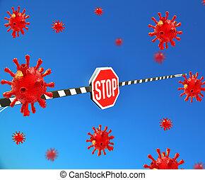 stop coronovirus covid-19 nconv - 3d rendering