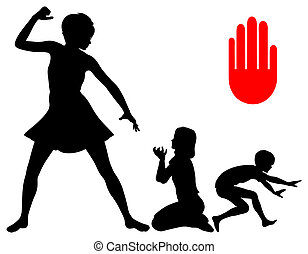 Stop Corporal Punishment - Mother threatens her children and...