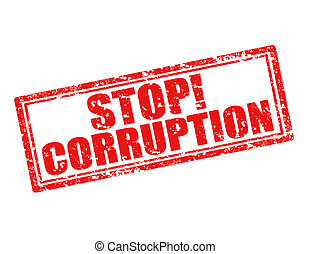 Stop corruption - Grunge rubber stamp with text Stop...