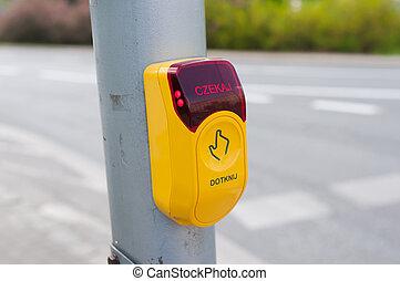 Stop - crosswalk button