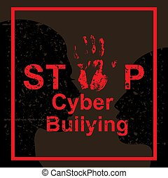 Stop cyber bullying concept