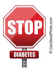 stop diabetes illustration design over a white background