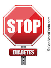 stop diabetes illustration design over a white background