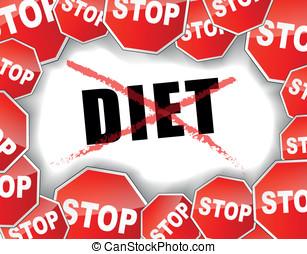 Stop diet concept