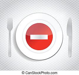 stop dont eat concept illustration design