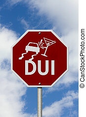 Stop Drinking and Driving Road Sign