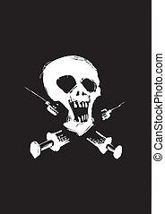 stop drugs - illustration of the skull