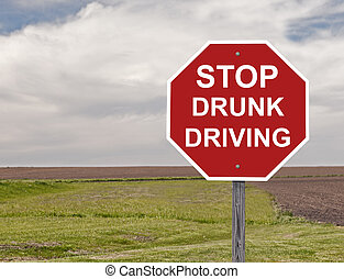 Stop Drunk Driving - Stop Sign Asking To Halt Drunk Driving