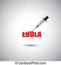 stop ebola worldwide epidemic concept - vector graphic icon