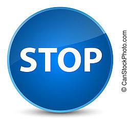 Stop elegant blue round button