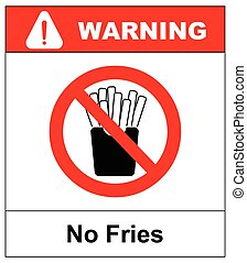 Stop French fries. Ban fatty fast food. Sliced potatoes in...