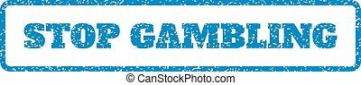 Stop Gambling Rubber Stamp